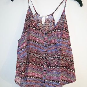 New Forever 21 multicolor printed tank top